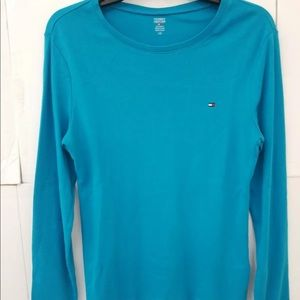 Tommy Hilfiger Long Sleeve T-Shirt Teal Large
